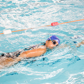 Lady swimming at Friary Grange Leisure Centre